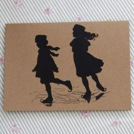 Greetings Card – Ice Skaters