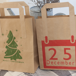 Christmas Gift Bag – Two Bags – Two Designs