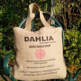 Hessian Tote – Dahlia Design