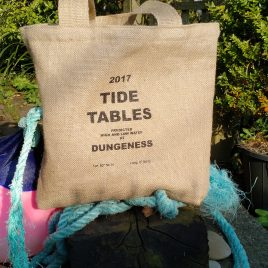 Hessian Tote – Tide Table Design