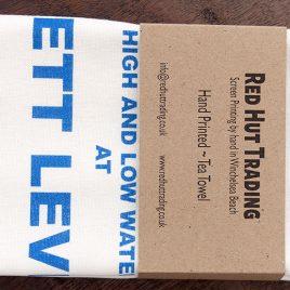 Tea Towel – Pett Level Tide Table Design
